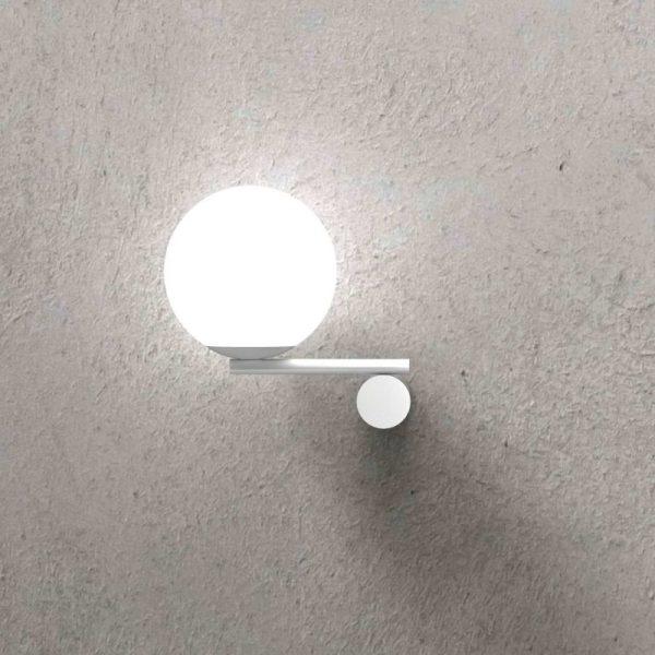 marchetti luna r1 sx lampada da parete in metallo nero oro bianco